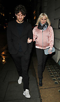 Max Rogers and Kimberly Wyatt spotted out &amp; about, walking along Piccadilly towards Green Park, London, England, UK, on Thursday 01 February 2018.<br /> CAP/CAN<br /> &copy;CAN/Capital Pictures