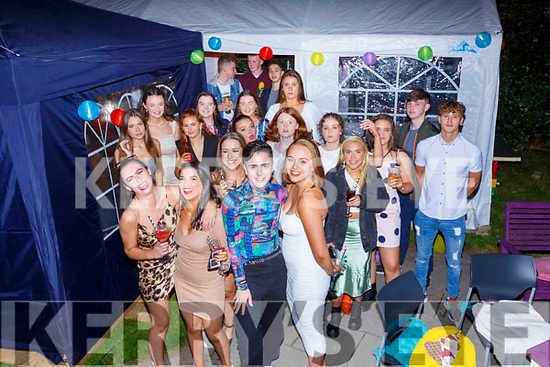 Niall Casey & Sarah Landers front centre from Cahersiveen celebrated their 18th birthdays jointly at San Antoine on Saturday night.