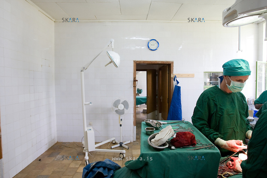 The one of two operating rooms.