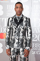 Wiley - Richard Cowie at the 2017 Brit Awards at the O2 Arena in London, UK. <br /> 22 February  2017<br /> Picture: Steve Vas/Featureflash/SilverHub 0208 004 5359 sales@silverhubmedia.com