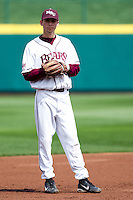 Kevin Medrano (13) of the Missouri State Bears stands around between batters during a game against the Oral Roberts Golden Eagles on March 27, 2011 at Hammons Field in Springfield, Missouri.  Photo By David Welker/Four Seam Images