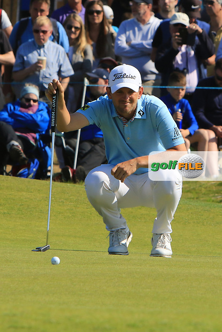 Bernd Wiesberger (AUT) on the 3rd during Round 4 of the Aberdeen Standard Investments Scottish Open 2019 at The Renaissance Club, North Berwick, Scotland on Sunday 14th July 2019.<br /> Picture:  Thos Caffrey / Golffile<br /> <br /> All photos usage must carry mandatory copyright credit (© Golffile | Thos Caffrey)