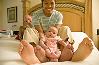 New family, newborn, interracial family (American man, Phillipino woman)  MR