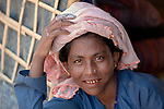 A woman in the Jamtoli Refugee Camp near Cox's Bazar, Bangladesh. More than 600,000 Rohingya refugees have fled government-sanctioned violence in Myanmar for safety in this and other camps in Bangladesh.