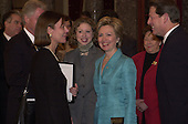 Washington, DC - January 3, 2001 -- First Lady Hillary Rodham Clinton is all smiles after she was sworn-in as U.S. Senator from New York..Credit: Ron Sachs / CNP