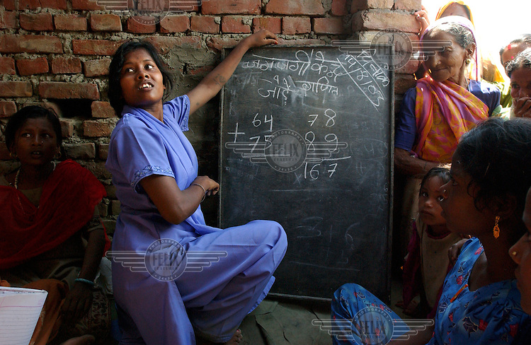 Lalita, a girl from the Musahar caste (also known as 'rat eaters') teaches other young girls mathematics in her village of Koprah. She has overcome great barriers in a society that regards her as the most disadvantaged since she is a female from one of the lowest castes in India. She attended a Mahila Shikshan Kendra (Women's Education Centre) against her father's will and learned how to read, write and defend herself in a community which frequently abuses women. The centre is funded by the World Bank although it was initially started by Unicef.