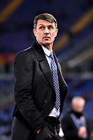 Former AC Milan player Paolo Maldini looks on ahead the Serie A 2018/2019 football match between AS Roma and AC Milan at stadio Olimpico, Roma, February 3, 2019 <br />  Foto Andrea Staccioli / Insidefoto