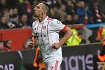 12.01.2018, BayArena, Leverkusen , GER, 1.FBL., Bayer 04 Leverkusen vs. FC Bayern M&uuml;nchen<br /> im Bild / picture shows: <br /> Torjubel / Jubel / Jubellauf,    Franck Ribery (Bayern Muenchen #7),  2:0 <br /> <br /> <br /> Foto &copy; nordphoto / Meuter