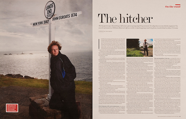 Portrait of the journalist William Shaw at Land's End, commissioned by THE INDEPENDENT ON SUNDAY REVIEW.