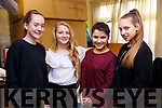 Ready for the stage at the Presentation Secondary School Convent Christmas play. L to r: Caoimhe Casey, Kornelia Lemanska, Niaangeal Raducanu and Jagoda Waszkievicczie.