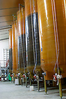 Epoxy wine storage tanks at Domaine Fontavin, Chateauneuf-du-Pape, Vaucluse, Rhone, Provence, France