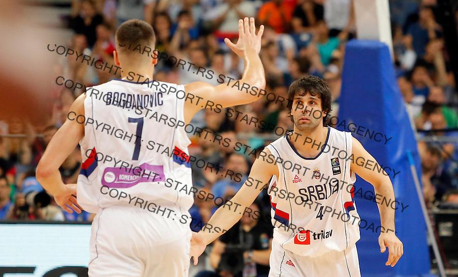 Bogdan Bogdanovic Milos Teodosic Srbija - Portoriko, kosarka 9.7.1016. JUL 4. 2016. (credit image & photo: Pedja Milosavljevic / STARSPORT)