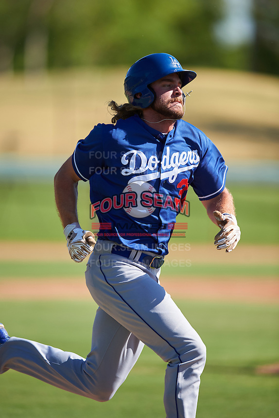 Los Angeles Dodgers DJ Peters (31) during an Instructional League game against the Chicago White Sox on October 15, 2016 at the Camelback Ranch Complex in Glendale, Arizona.  (Mike Janes/Four Seam Images)
