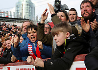 Brentford fans celebrate their first goal during Brentford vs Queens Park Rangers, Sky Bet EFL Championship Football at Griffin Park on 11th January 2020