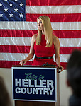 Ivanka Trump speeks with Senator Dean  Heller campaign volunteers at the RNC field office in Reno, Thursday, Nov. 1, 2018.