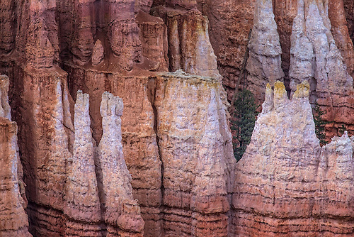 Dark skies have muted the color of the hoodoos at Bryce Canyon National Park, Utah