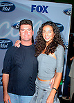 Simon Cowell and Terri Seymour at party to celebrate the American Idol Top 12 Finalists at Pearl in Hollywood.