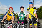 Marie Meyers, Trish Healy and Pat Brosnan at the Currow Cycling Club and Currow Ladies GAA club fund raising cycle starting at the Community Centre on Sunday