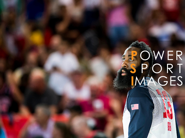 James Harden of United States of America looks on during FIBA Basketball World Cup 2014 group C between United States of America vs New Zeland  on September 02, 2014 at the Bilbao Arena stadium in Bilbao, Spain. Photo by Nacho Cubero / Power Sport Images