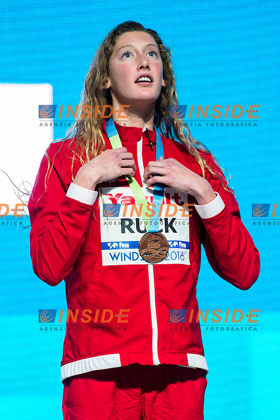 RUCK Taylor CAN Bronze Medal<br /> Women's Freestyle 200m<br /> 13th Fina World Swimming Championships 25m <br /> Windsor  Dec. 6th, 2016 - Day01 Finals<br /> WFCU Centre - Windsor Ontario Canada CAN <br /> 20161206 WFCU Centre - Windsor Ontario Canada CAN <br /> Photo &copy; Giorgio Scala/Deepbluemedia/Insidefoto