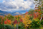 Fall foliage at the Hancock overlook in the White Mountain National Forest, NH, USA