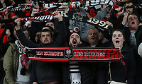 Rennes fans<br /> <br /> Photographer Rob Newell/CameraSport<br /> <br /> Football - UEFA Europa League Round of 16 Leg 2 - Arsenal v Rennes - Thursday 14th March 2019 - The Emirates - London<br />  <br /> World Copyright © 2018 CameraSport. All rights reserved. 43 Linden Ave. Countesthorpe. Leicester. England. LE8 5PG - Tel: +44 (0) 116 277 4147 - admin@camerasport.com - www.camerasport.com