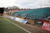 Uncovered seating at Barnet FC Football Ground, Underhill Stadium, Barnet, London, pictured on 10th February 1996