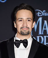 LOS ANGELES, CA - NOVEMBER 29: Lin-Manuel Miranda attends the Premiere Of Disney's 'Mary Poppins Returns' at El Capitan Theatre on November 29, 2018 in Los Angeles, California.<br /> CAP/ROT/TM<br /> &copy;TM/ROT/Capital Pictures