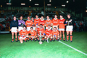 Victorious Blackpool Team,Lancashire cup winners 1994/95.Back row Paul Stoneman, Les Sealey, Mitch Cook,Chris Beech, Dave Bamber,I an Gore, David Burke,Phil Horner,Tony Ellis,Lee Martin..front James Quinn,Mark Bonner, Phil Brown,Andy Gouck,Bryan Griffiths......© Phill Heywood.tel 07806 775649