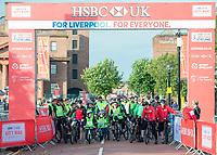 Picture by Allan McKenzie/SWpix.com - 24/09/2017 - Cycling - HSBC UK City Ride Liverpool - Albert Dock, Liverpool, England - HSBC UK, Lets ride, branding.