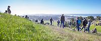 Richard King, California Native Grasslands pasture walk on rangeland management of grasses at Chanslor Ranch, Bodega Bay
