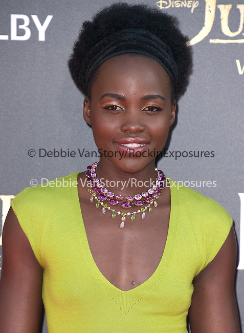 Lupita Nyong'o attends The Disney World Premiere of The Jungle Book held at The El Captian theatre  in Hollywood, California on April 04,2016                                                                               © 2016 Hollywood Press Agency