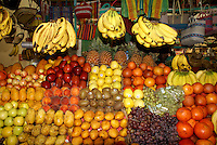 Fruit stall in the market,  San Miguel de Allende, Mexico. San Miguel de Allende is a UNESCO World Heritage Site....