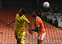 Fleetwood Town's James Hill and Blackpool's Curtis Tilt<br /> <br /> Photographer Stephen White/CameraSport<br /> <br /> The EFL Sky Bet League One - Blackpool v Fleetwood Town - Monday 22nd April 2019 - Bloomfield Road - Blackpool<br /> <br /> World Copyright © 2019 CameraSport. All rights reserved. 43 Linden Ave. Countesthorpe. Leicester. England. LE8 5PG - Tel: +44 (0) 116 277 4147 - admin@camerasport.com - www.camerasport.com
