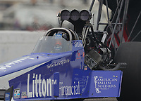 Aug 19, 2018; Brainerd, MN, USA; NHRA top fuel driver Bill Litton during the Lucas Oil Nationals at Brainerd International Raceway. Mandatory Credit: Mark J. Rebilas-USA TODAY Sports