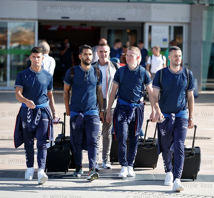 22.06.2019 Rangers arrive in Portugal: Jordan Jones, Daniel Candeias, Stevie Kelly and Jamie Murphy