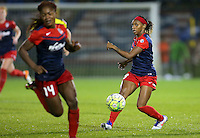 Boyds, MD - Friday Sept. 30, 2016: Francisca Ordega, Crystal Dunn during a National Women's Soccer League (NWSL) semi-finals match between the Washington Spirit and the Chicago Red Stars at Maureen Hendricks Field, Maryland SoccerPlex. The Washington Spirit won 2-1 in overtime.