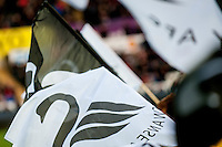Swansea flags during the Barclays Premier League match between Swansea City and Aston Villa played at the Liberty Stadium, Swansea  on March the 19th 2016