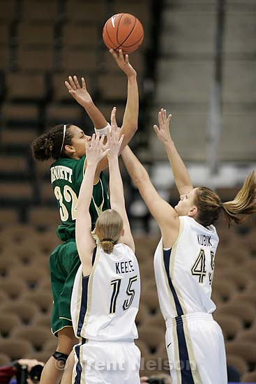BYU vs. Colorado State women's college basketball, Mountain West Conference Tournament in Denver. Melissa Dennett<br />
