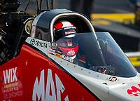 May 4, 2018; Commerce, GA, USA; NHRA top fuel driver Doug Kalitta during qualifying for the Southern Nationals at Atlanta Dragway. Mandatory Credit: Mark J. Rebilas-USA TODAY Sports