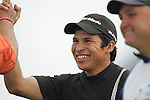 Andres Romero delighted after a hole in one on the par 3 17th hole during the first round of the Smurfit Kappa European Open at The K Club, Strffan,Co.Kildare, Ireland 5th July 2007 (Photo by Eoin Clarke/NEWSFILE)