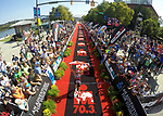 CHATTANOOGA, TN - SEPTEMBER 8:  Women's 2nd Place Emma Gallant of Great Britain crosses the finish line during the the Women's IRONMAN 70.3 St. World Championships on September 9, 2017 in Chattanooga, Tennessee. (Photo by Donald Miralle for IRONMAN)