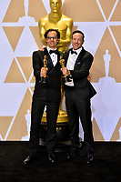 Bryon Fogel &amp; Dan Cogan at the 90th Academy Awards Awards at the Dolby Theartre, Hollywood, USA 04 March 2018<br /> Picture: Paul Smith/Featureflash/SilverHub 0208 004 5359 sales@silverhubmedia.com