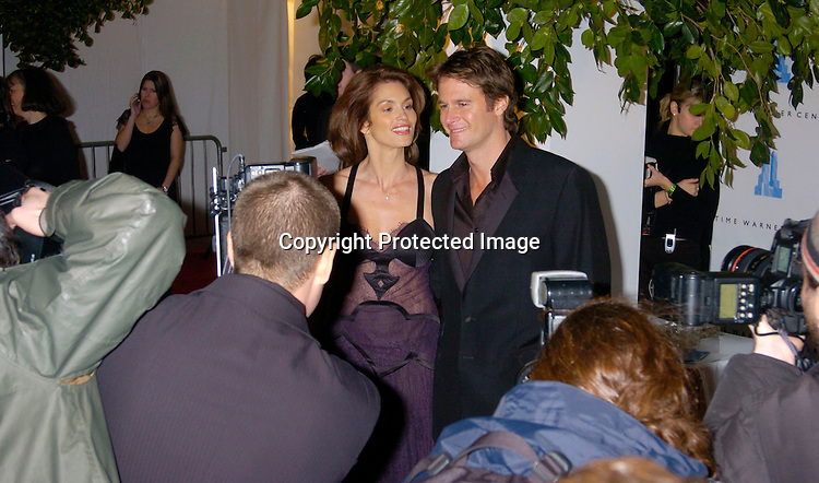 Cindy Crawford and husband Rande Gerber ..at the Time Warner Center grand Opening on February 4, 2004 in New York City. Photo by Robin Platzer, Twin Images