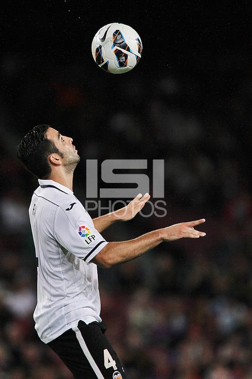 02/09/2012 - Liga Football Spain, FC Barcelona vs. Valencia CF Matchday 3 - Adil Rami, french defense for VaAlencia CF controls the ball