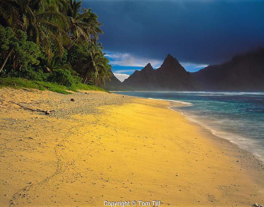 Morning Light at Ofu Beach, National Park of American Samoa, American Samoa   Ofu Island  South Pacific Ocean