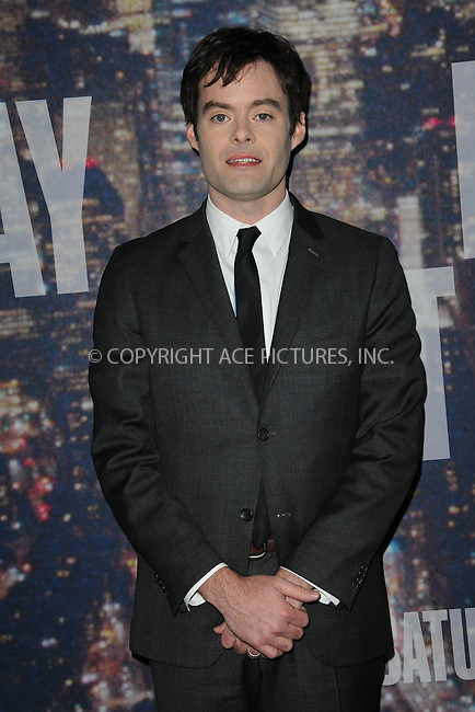 WWW.ACEPIXS.COM<br /> February 15, 2015 New York City<br /> <br /> <br /> Bill Hader walking the red carpet at the SNL 40th Anniversary Special at 30 Rockefeller Plaza on February 15, 2015 in New York City.<br /> <br /> Please byline: Kristin Callahan/AcePictures<br /> <br /> ACEPIXS.COM<br /> <br /> Tel: (646) 769 0430<br /> e-mail: info@acepixs.com<br /> web: http://www.acepixs.com
