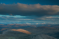 The Cairngorms from Derry Cairngorm at dusk, Cairngorms National Park, Aberdeenshire