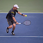Dmitry Tursunov (RUS) loses to John Isner (USA) 6(7)-7(9), 6-3, 6-4 at the CitiOpen in Washington, D.C., Washington, D.C.  District of Columbia on August 3, 2013.