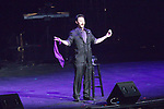 Magician Lance Burton along with several local performers at the Vegas Cares fundraiser at the Venetian Theater Las Vegas rings in 2018 with fireworks from the top of the Stratosphere